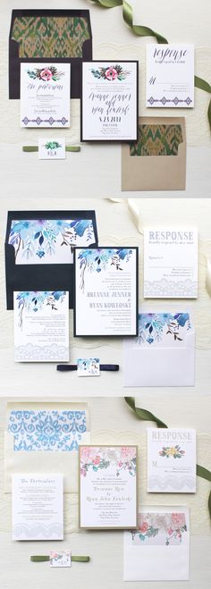 From Boho-Chic to Modern-Elegant, we've got you covered! Fully Assembled Wedding Invitations, Save the Dates, Wedding Menus, Ceremony Programs & Table Numbers By Beacon Lane