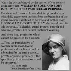 "Edith Stein - The dignity and essence of being a woman, ""to aid humanity in not falling"" Catholic Quotes, Religious Quotes, Catholic Saints, Roman Catholic, St Edith Stein, Saint Quotes, Daughters Of The King, Amazing Quotes, Inspirational Quotes"