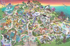 Sea World San Diego map 2004