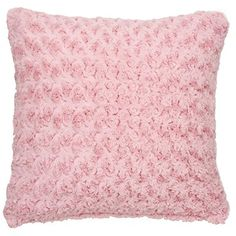 The Range - blush / dusky pink cushion. Swirly Fur Cushion