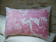 ANTIQUE FRENCH PILLOW antique french toile by vintagefrenchstyle, $115.00