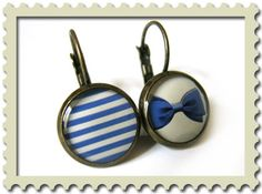 Just purchased these on Etsy. I couldn't resist two of my favorite things, bows and sailor stripes!