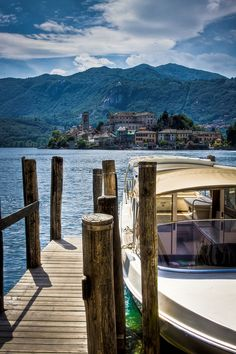 San Giulio Island, Lake Orta, Piemonte, Italy