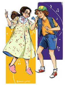 Stranger Things Suzie and Dustin Singing Neverending Story by Ngoc (Jennifer) Ngo Stranger Things Suzie and Dustin Singing Neverending Story by Ngoc (Jennifer) Ngo Gaten Matarazzo and Gabriella Pizzolo Season 3 fanart fan art