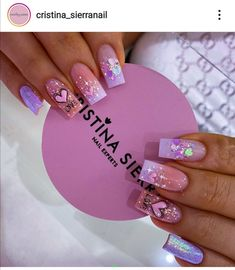Mani Pedi, Cute Nails, Nail Art Designs, Acrylic Nails, Hair Beauty, Sierra, Style, Bling Nails, Perfect Nails