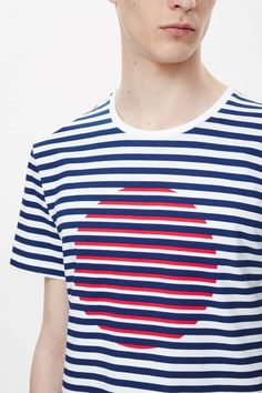 Stripe and circle t-shirt