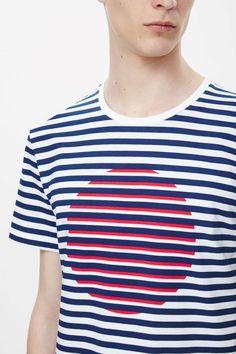 Stripe and circle t-shirt