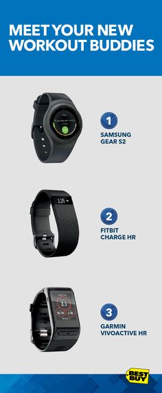 Choosing a great wearable device can be a workout in itself. There are lots of amazing new models, with cool features that'll make your heart race. They can track your steps, calories burned, stairs climbed, heart rate, monitor sleep and more. Let Best Buy be your guide. Our online selector tool lets you compare devices and features to find the perfect match. Check out the Samsung Gear S2, Fitbit Charge HR and Garmin Vivoactive HR. Shop wearable tech at Best Buy and stay on track.