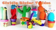 Cactus Tejidos al crochet con macetas de barro Nº7 pintadas a mano. Consultar por otras medidas. Ventas por Mayor y Menor. Seguinos en Facebook