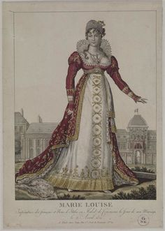 1810 Marie-Louise's wedding dress worn on 2 April (Châteaux de Malmaison et Bois-Préau, Malmaison France)