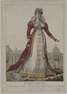 1810 Marie-Louise's wedding dress worn on 2 April (Châteaux de Malmaison et Bois-Préau, Malmaison France)