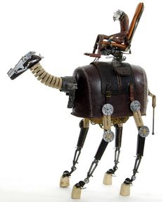 Steampunk Robots: Beautiful Toy Nightmares by Stephane Halleux