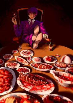 Tokyo Ghoul ~~ Guess who's coming for dinner? Now guess who's not leaving later... :: Tsukiyama Shuu