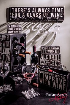 Quotes and Sayings about Wine. Coasters, Holders and signs all about WINE.