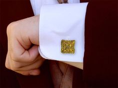 Mens Cufflinks - The Melting Walls™ Collection by Damaskos. The cufflinks are APPROX ¾ inch square. The cuff links add a personal and masculine touch to a work outfit. Best Mens Fashion, Emo Fashion, Latex Fashion, Korean Fashion, Dandy, Men's Coats And Jackets, Classic Man, Well Dressed Men, Gentleman Style