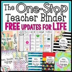 Editable Teacher Binder FREE Updates for Life - Digital Te