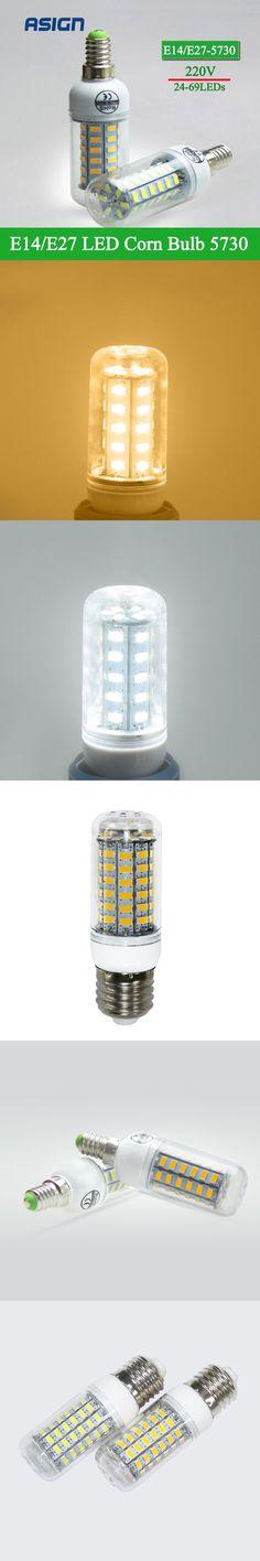 LED Corn Bulb SMD 5730 E27 E14 LED Lamp 5730SMD LED Lights Bulb 24 36 48 56 69Leds Chandelier Candle Lighting Home Decoration $2.09