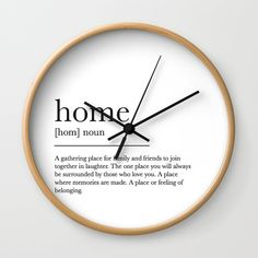 Buy Home Wall Clock by michaelabinda. Worldwide shipping available at Society6.com. Just one of millions of high quality products available.