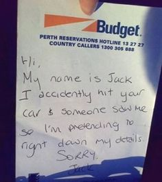#WTF! Fake accident note? Too far!? You must see this ultimate prank list! Click Stitch up your mates today! #lol