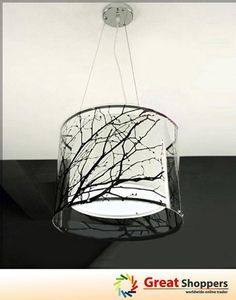 tree branch light fixture | Modern Branch Tree Stick Ceiling Lighting Pendant Lamp Light Fixture ...