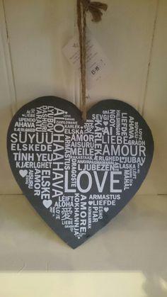 A beautiful slate heart