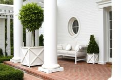 Love the planters and the topiaries.  Will this go with the style of my new house?