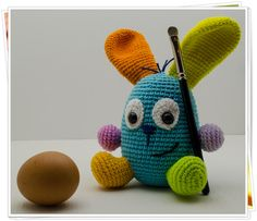 Crochet Bunny Toy Amigurumi Bunny Toy by KnittingKittyDesigns