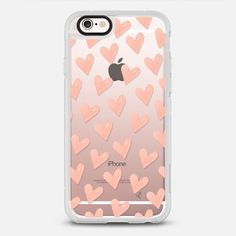 HEARTS / Light Pink (Transparent) - New Standard Case in Clear and Clear by @ylfa_gronvold | @casetify
