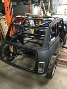 Mini Cooper Tuning, Old Mini Cooper, Mini Cooper Classic, Classic Mini, Classic Cars, Go Kart Designs, Custom Mercedes, Mini Morris, Tube Chassis