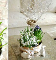 Ha szereted az élő virágokat és szeretnél egy kis természetet csempészni az otthonodba, akkor ezt, a festettfaág fával, madárfészekkel és friss gumós virágokkal készült tavaszi dekorációs virág kompozíciót egészen biztosan imádni ...