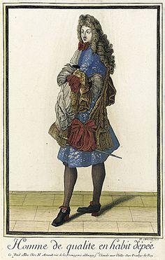 Recueil des modes de la cour de France, 'Homme de Qualite en Habit d'Êpée'  Nicolas Arnoult  circa 1683-1688