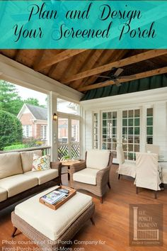 Discover new patio ideas, decor and layouts to guide your outdoor remodel. Screened Porch Designs, Screened In Patio, Back Patio, Outdoor Rooms, Outdoor Living, Outdoor Decor, Outdoor Patios, Outdoor Kitchens, New Patio Ideas