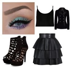 """""""Untitled #373"""" by candy-corn-cupcake ❤ liked on Polyvore featuring beauty, WearAll, Balmain and Alexander McQueen"""