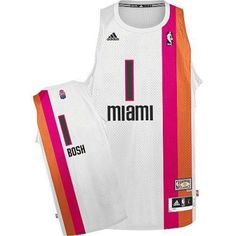 f551e5e0b125 Chris Bosh Swingman In White Adidas NBA Miami Heat ABA Hardwood Classic  1 Men s  Jersey