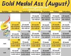 August workout challenge for dat ass doe!