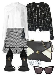 """""""Senza titolo #461"""" by victoriamuller-it ❤ liked on Polyvore featuring Topshop, Chanel, Yves Saint Laurent, Helmut Lang and Christian Dior"""