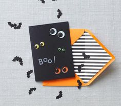 DIY googly eye invitations #halloween
