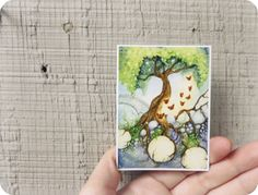 Whimsical Garden Art ACEO  The Butterfly Tree  by FaeryDustArt