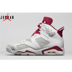 d0d17d13921 Men s Women s Air Jordan 6 Alternate Basketball Shoes White Pure  Platinum-Gym Red