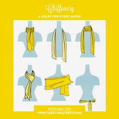 A scarf for every mood & style by Chiffonery.   http://www.theblingstreet.com/designers/-chiffonery