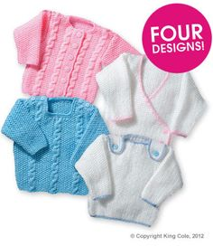 FREE PATTERN - 4 Designs - King Cole Aran and Sweaters Free Pattern | Deramores Sept 2014
