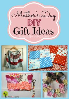 Mothers Day DIY Gift Ideas #Sewing #Crafts