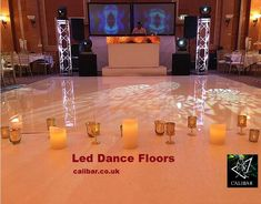 book the professional Led Dance floor for make special your wedding.