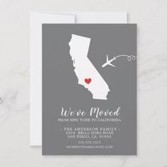 Moving Announcement | State California | Zazzle.com