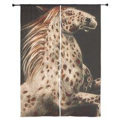 Rearing Appaloosa Horse Curtains