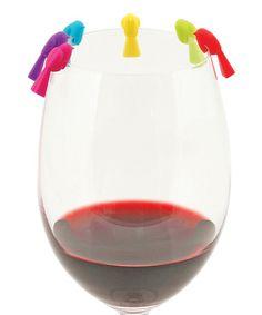 Look what I found on #zulily! Chickadee Wine Charm Set #zulilyfinds