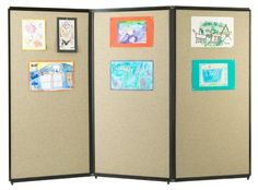 Versare 3-Panel Tackable Room Divider - 7.5W ft. - Daycare Learning Aids at Hayneedle
