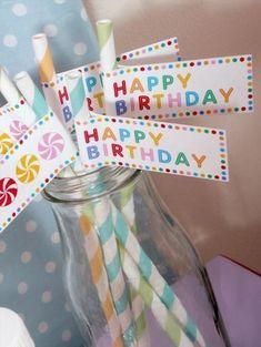 Birthday Candy, 4th Birthday Parties, 1st Birthday Girls, Happy Birthday, Birthday Straws, Birthday Celebrations, Candy Theme, Candy Party, Birthday Blessings