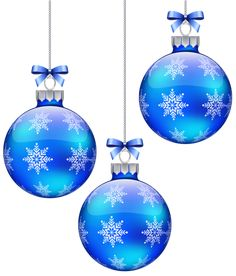 Blue Christmas Balls Decoration PNG Clipart Image