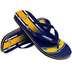 San Diego Chargers Gradient Flip Flops